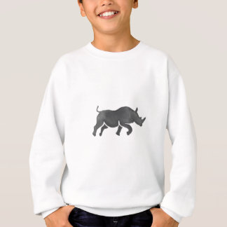 Rhinoceros Silhouette Running Watercolor Sweatshirt