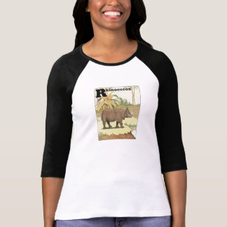 Rhinoceros Story Book Illustrated Alphabet T-Shirt