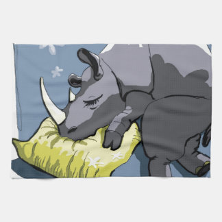 rhinoceros tea towel