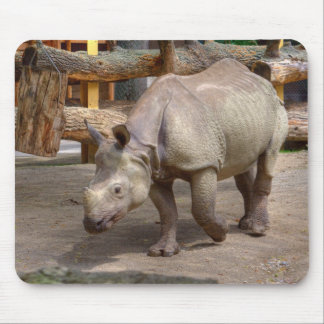 Rhinoceros unicornis mouse pad