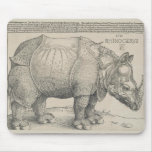 Rhinoceros, Woodcut by Albrecht Durer Mouse Pad