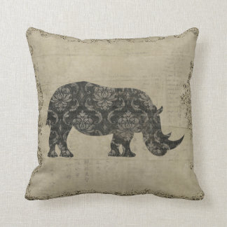 Rhinoceroses Silhouette  MoJo Pillow Throw Cushions