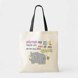 rhinos are just ugly unicorns tote bag