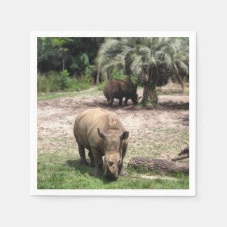 Rhinos on Safari Napkin Disposable Napkin
