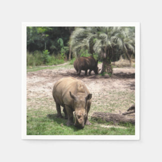 Rhinos on Safari Napkin Paper Napkins