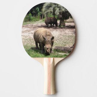 Rhinos on Safari Ping Pong Paddle