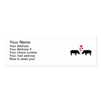 Rhinos red hearts love business card