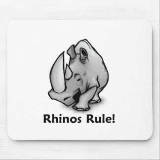 Rhinos Rule! Mouse Pad