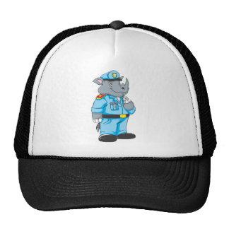 Rhinosaurus Policeman in Uniform Trucker Hats