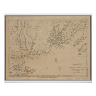 Rhode Island 1780 Historic Map Poster