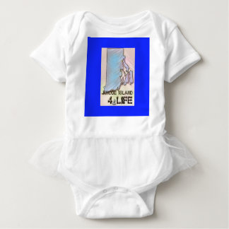 """Rhode Island 4 Life"" State Map Pride Design Baby Bodysuit"