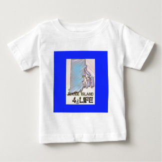 """Rhode Island 4 Life"" State Map Pride Design Baby T-Shirt"