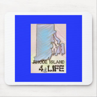 """""""Rhode Island 4 Life"""" State Map Pride Design Mouse Pad"""