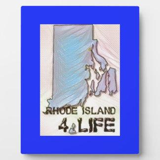 """Rhode Island 4 Life"" State Map Pride Design Plaque"