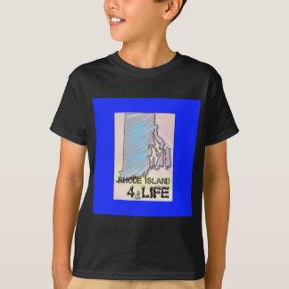 """Rhode Island 4 Life"" State Map Pride Design T-Shirt"
