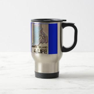 """Rhode Island 4 Life"" State Map Pride Design Travel Mug"