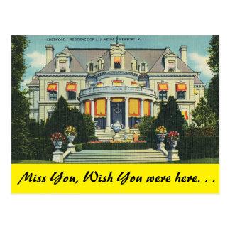 Rhode Island, Chetwood, Newport Postcard