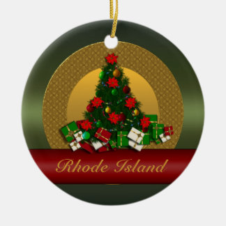 Rhode Island Christmas Tree Ornament