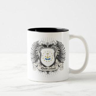 Rhode Island Crest Two-Tone Coffee Mug