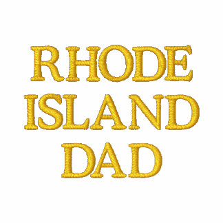 Rhode Island  Dad Embroidered Polo Shirts
