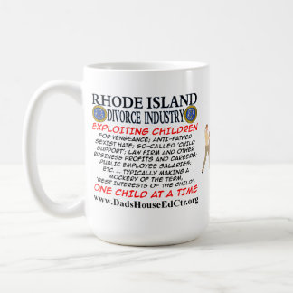 Rhode Island Divorce Industry. Basic White Mug