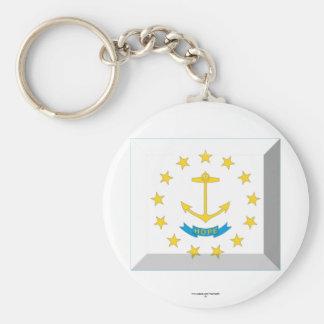 Rhode Island Flag Gem Keychain
