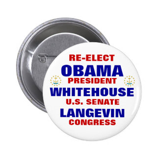 Rhode Island for Obama Whitehouse Langevin Buttons