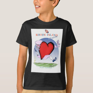 rhode island head heart, tony fernandes T-Shirt