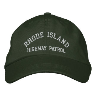 Rhode Island, HIGHWAY PATROL Embroidered Hat