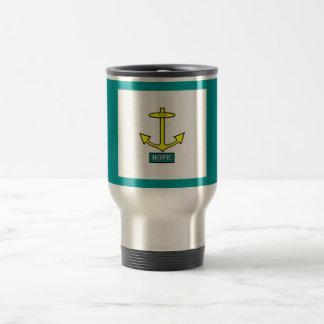 Rhode Island Hope Anchor Travel Mug