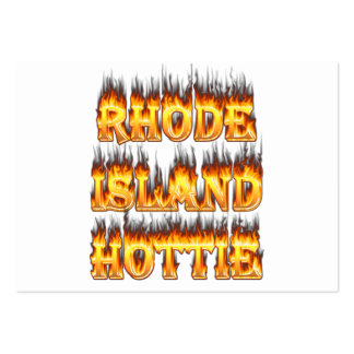 Rhode Island Hottie fire and flames Pack Of Chubby Business Cards