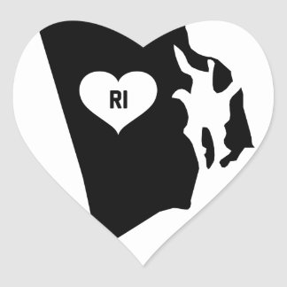 Rhode Island Love Heart Sticker