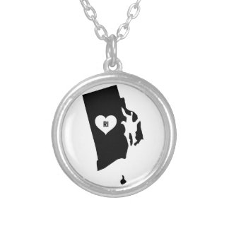 Rhode Island Love Silver Plated Necklace