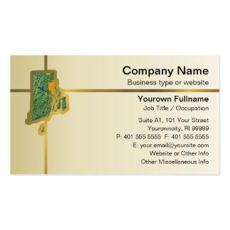 Rhode Island Map Business Card
