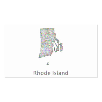 Rhode Island map Pack Of Standard Business Cards