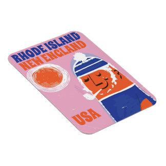 Rhode Island, New England fisherman vintage poster Magnet