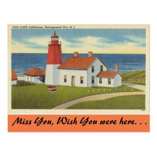 Rhode Island, Point Judith Lighthouse Postcard
