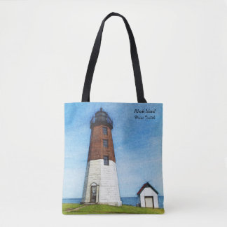 Rhode Island Point Judith Lighthouse Tote