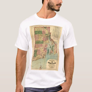 Rhode Island & Providence Plantations Map (1880) T-Shirt