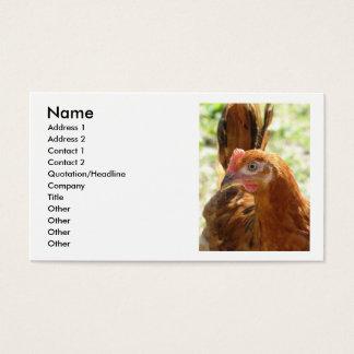 Rhode Island Red Business Card