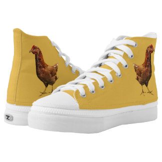 Rhode Island Red Hen High Top Printed Shoes