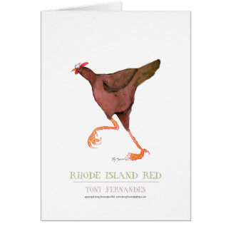 RHODE ISLAND RED HEN, tony fernandes Greeting Card