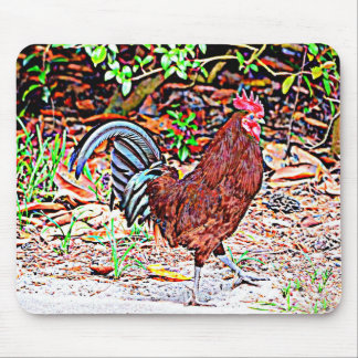 Rhode Island Red Rooster Mouse Pad