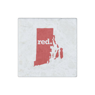 RHODE ISLAND RED STATE STONE MAGNET
