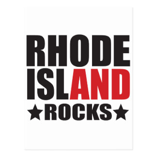 Rhode Island Rocks! State Spirit Gifts and Apparel Postcard