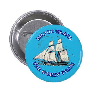 Rhode Island Sailing Ship Shield Pinback Buttons