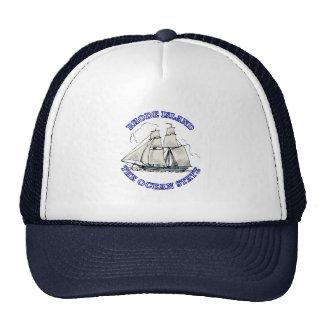Rhode Island Sailing Ship Shield Mesh Hat
