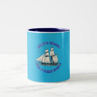 Rhode Island Sailing Ship Shield Mug