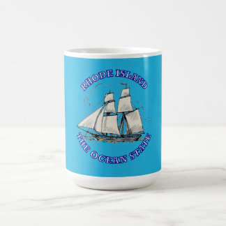 Rhode Island Sailing Ship Shield Mugs
