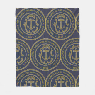 Rhode Island Seal Fleece Blanket